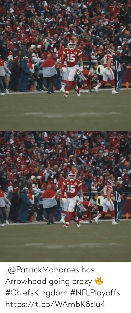 Has: .@PatrickMahomes has Arrowhead going crazy 🔥   #ChiefsKingdom #NFLPlayoffs https://t.co/WAmbK8sIu4