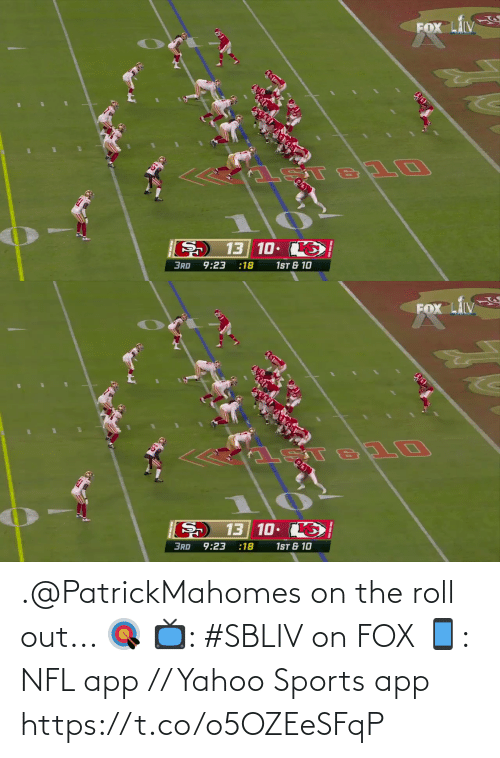 roll: .@PatrickMahomes on the roll out... 🎯  📺: #SBLIV on FOX 📱: NFL app // Yahoo Sports app https://t.co/o5OZEeSFqP
