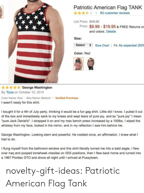 """Affirmation: Patriotic American Flag TANK  * * * y 63 customer reviews  List Price:$4998  Price: $9.99 $19.95 & FREE Returns or  and colors. Details  Size:  Select  #  Size Chart 