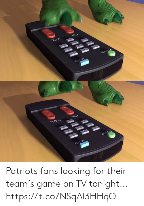 /tv/ : Patriots fans looking for their team's game on TV tonight... https://t.co/NSqAl3HHqO