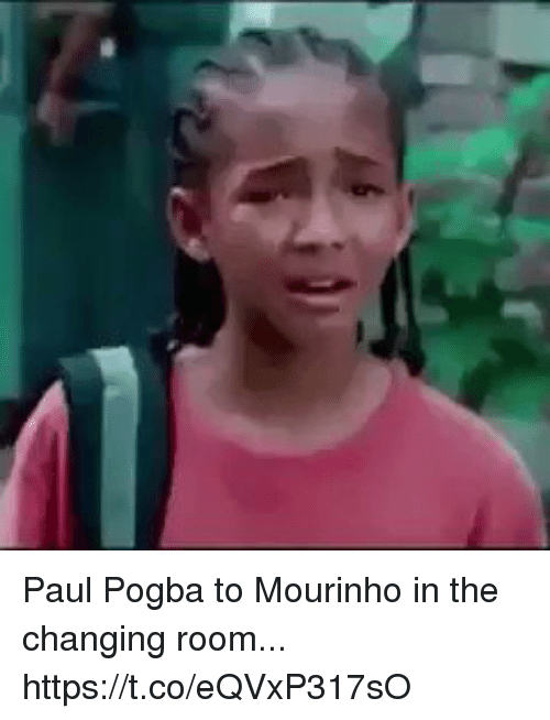 paul pogba: Paul Pogba to Mourinho in the changing room... https://t.co/eQVxP317sO