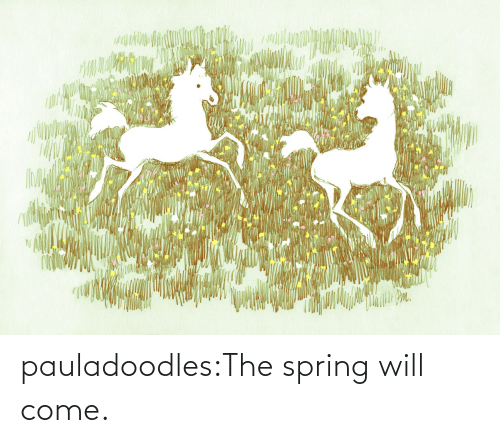 come: pauladoodles:The spring will come.