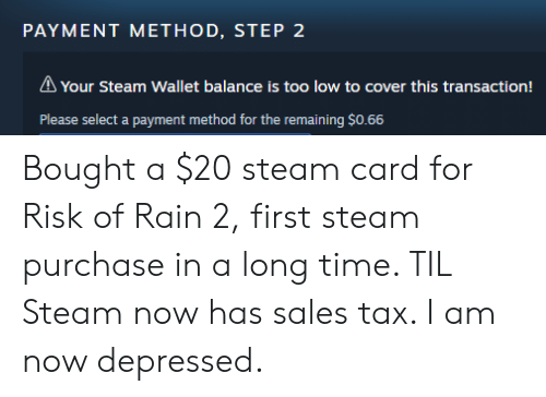 PAYMENT METHOD STEP 2 a Your Steam Wallet Balance Is Too Low