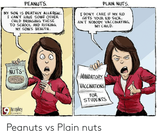 nuts: Peanuts vs Plain nuts