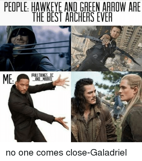 People Hawkeye And Green Arrow Are The Best Archers Ever Allthings