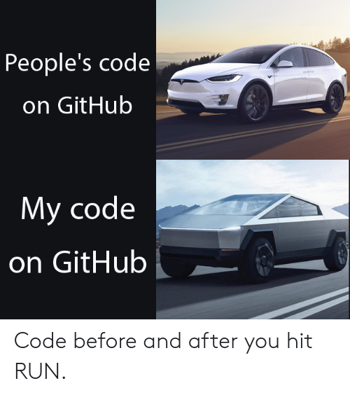 before and after: People's code  on GitHub  My code  on GitHub Code before and after you hit RUN.