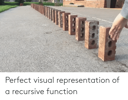 visual: Perfect visual representation of a recursive function