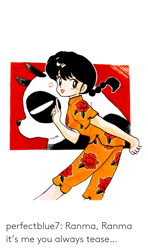 Target, Tumblr, and Blog: perfectblue7:  Ranma, Ranma it's me you always tease…