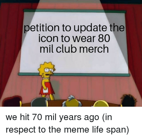 Petition To Update The Icon To Wear 80 Mil Club Merch Club Meme On