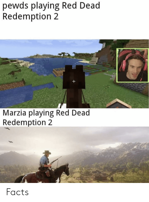 Facts, Red Dead Redemption, and Red Dead: pewds playing Red Dead  Redemption 2  +  Marzia playing Red Dead  Redemption 2 Facts