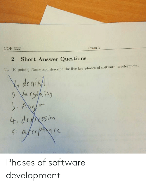 software: Phases of software development