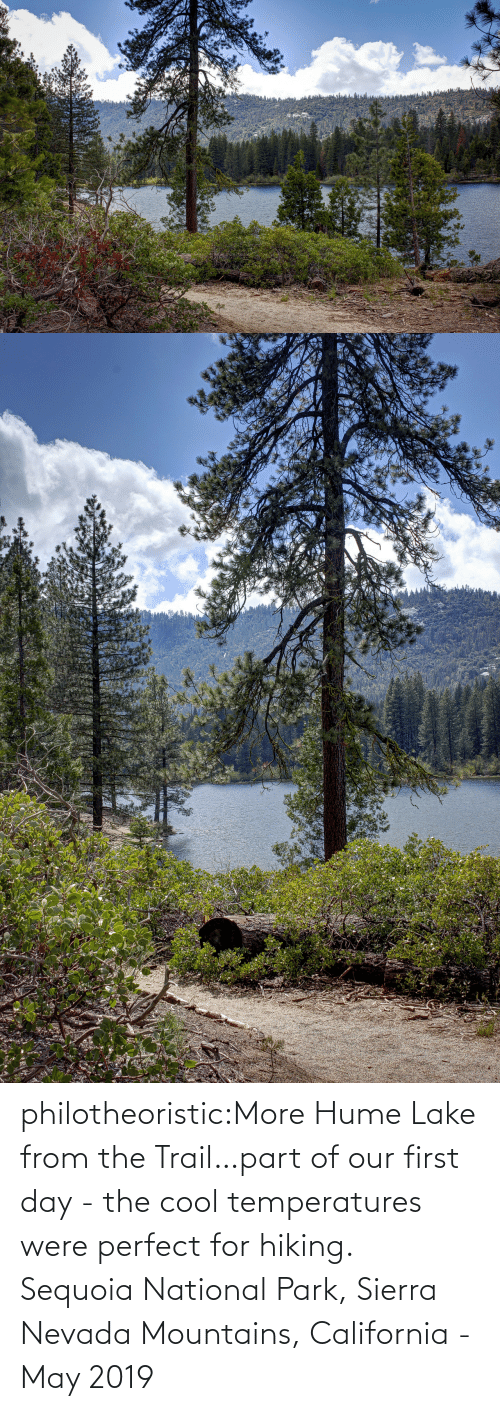 lake: philotheoristic:More Hume Lake from the Trail…part of our first day - the cool temperatures were perfect for hiking.  Sequoia National Park, Sierra Nevada Mountains, California - May 2019