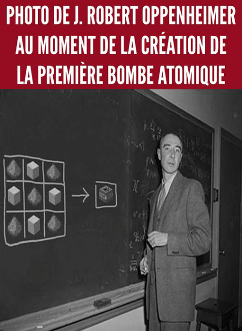 Memes, 🤖, and Oppenheimer: PHOTO DE J, ROBERT OPPENHEIMER  AU MOMENT DE LA CREATION DE  LA PREMIERE BOMBE ATOMIQUE
