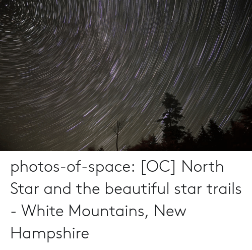 North: photos-of-space:  [OC] North Star and the beautiful star trails - White Mountains, New Hampshire