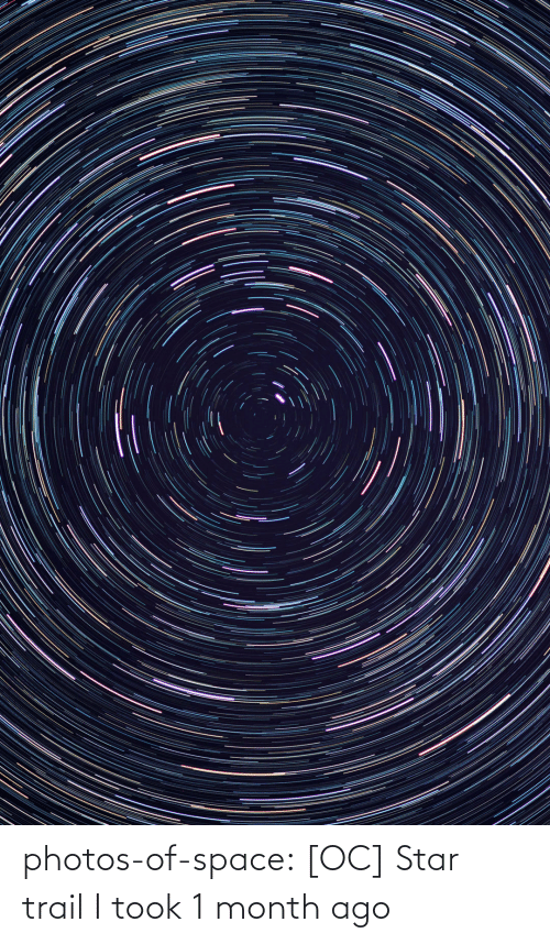 month: photos-of-space:  [OC] Star trail I took 1 month ago