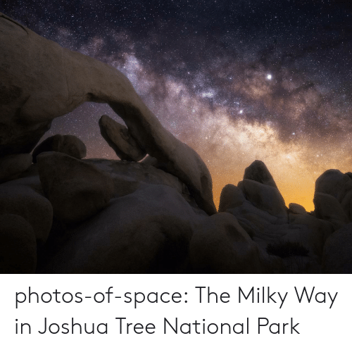 Tumblr, Blog, and Space: photos-of-space:  The Milky Way in Joshua Tree National Park