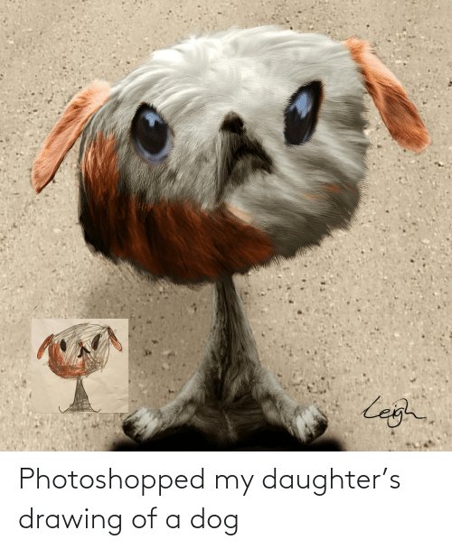 my daughter: Photoshopped my daughter's drawing of a dog
