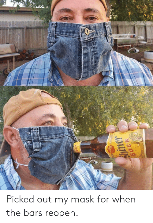 Mask: Picked out my mask for when the bars reopen.