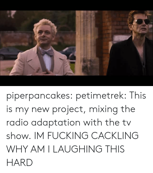 Fucking, Radio, and Tumblr: piperpancakes:  petimetrek:  This is my new project, mixing the radio adaptation with the tv show.  IM FUCKING CACKLING WHY AM I LAUGHING THIS HARD