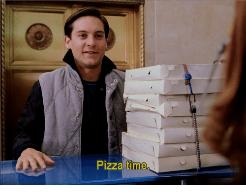 Pizza, Time, and Pizza Time: Pizza time