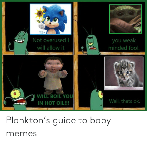 guide: Plankton's guide to baby memes