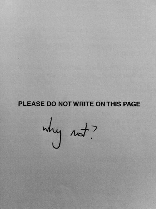 Write On: PLEASE DO NOT WRITE ON THIS PAGE
