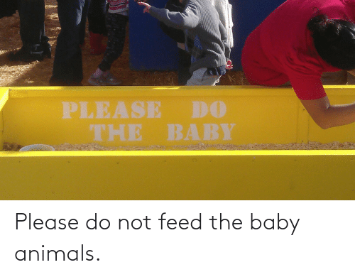 Baby Animals: PLEASE DO  THE BABY Please do not feed the baby animals.