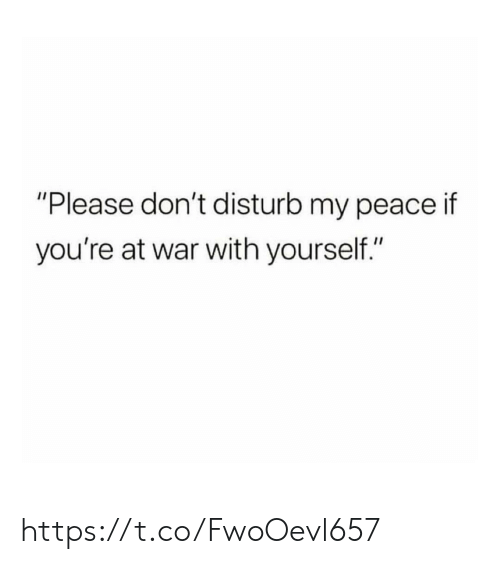 """Memes, Peace, and 🤖: """"Please don't disturb my peace if  you're at war with yourself."""" https://t.co/FwoOevl657"""