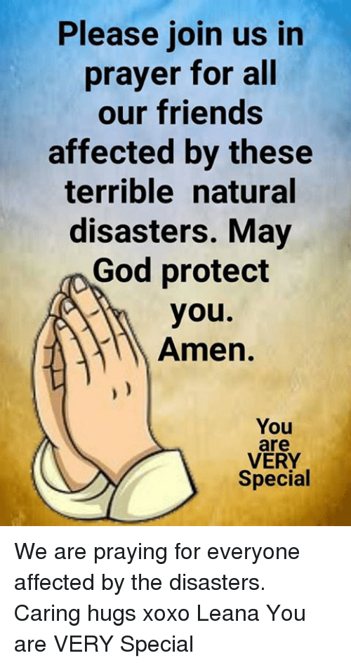 Prayer In Time Of Natural Disaster