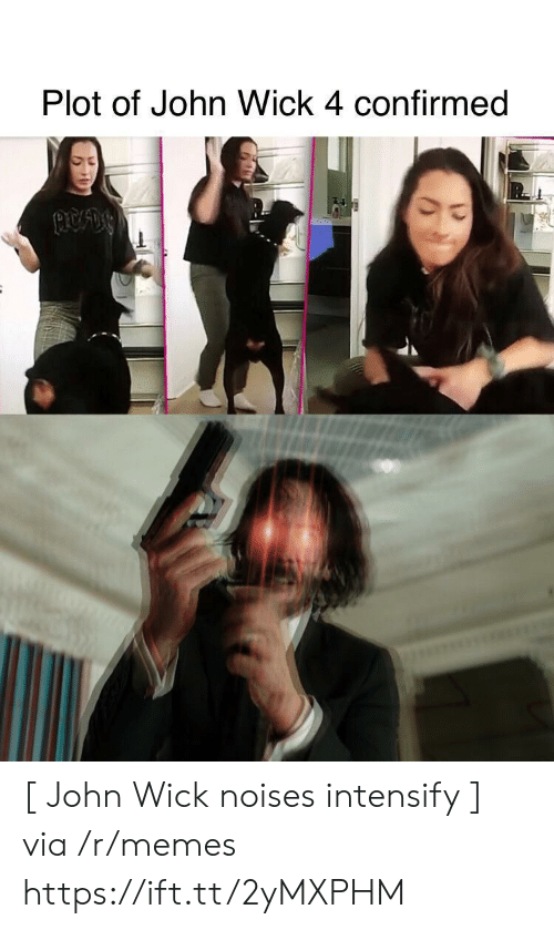 Confirmed: Plot of John Wick 4 confirmed [ John Wick noises intensify ] via /r/memes https://ift.tt/2yMXPHM