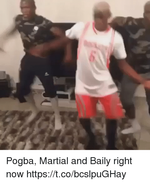 Martial: Pogba, Martial and Baily right now https://t.co/bcslpuGHay