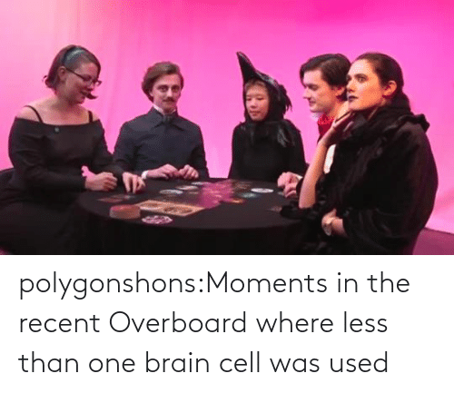 used: polygonshons:Moments in the recent Overboard where less than one brain cell was used