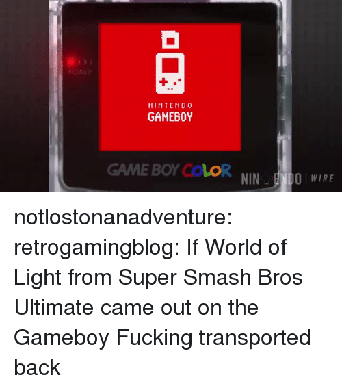 super smash bros: POWER  NINTENDO  GAMEBOY  GAME BOY COLORNINOWIRE notlostonanadventure: retrogamingblog: If World of Light from Super Smash Bros Ultimate came out on the Gameboy  Fucking transported back