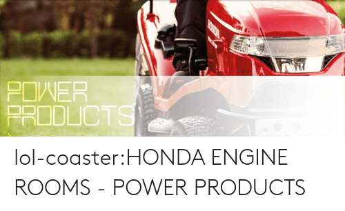 Honda, Lol, and Tumblr: POWER  PRODLICT lol-coaster:HONDA ENGINE ROOMS - POWER PRODUCTS