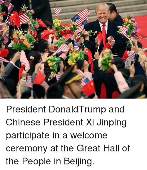 Beijing: President DonaldTrump and Chinese President Xi Jinping participate in a welcome ceremony at the Great Hall of the People in Beijing.