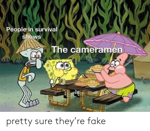 pretty: pretty sure they're fake