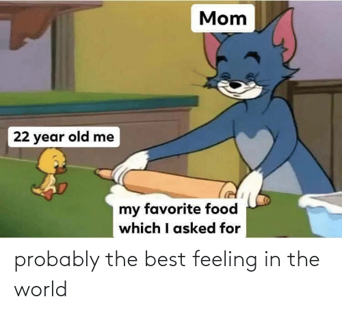 in the world: probably the best feeling in the world