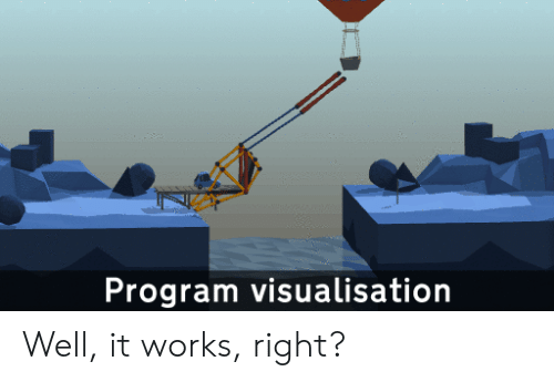 Program, Works, and Right: Program visualisation Well, it works, right?