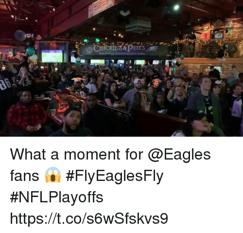 Eagles Fans: Proud Partier of the Philadelphia Eagtes What a moment for @Eagles fans 😱 #FlyEaglesFly #NFLPlayoffs https://t.co/s6wSfskvs9
