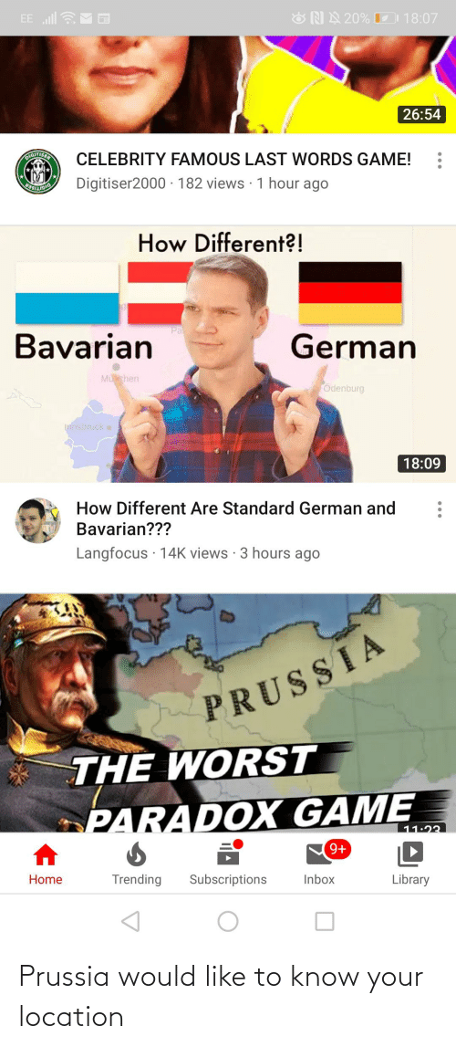 Prussia: Prussia would like to know your location