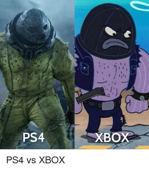 Funny, Ps4, and Xbox: PS4  XBOX PS4 vs XBOX