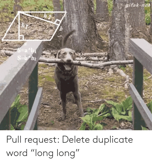 "Pull: Pull request: Delete duplicate word ""long long"""