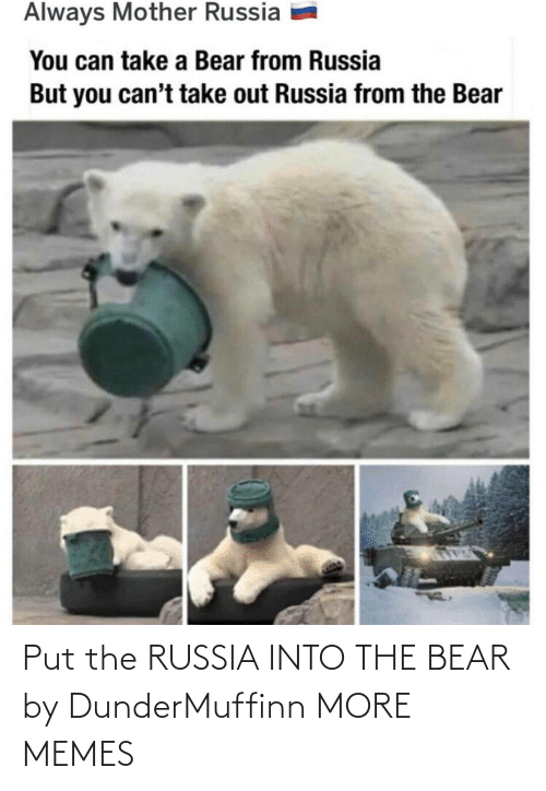 Russia: Put the RUSSIA INTO THE BEAR by DunderMuffinn MORE MEMES