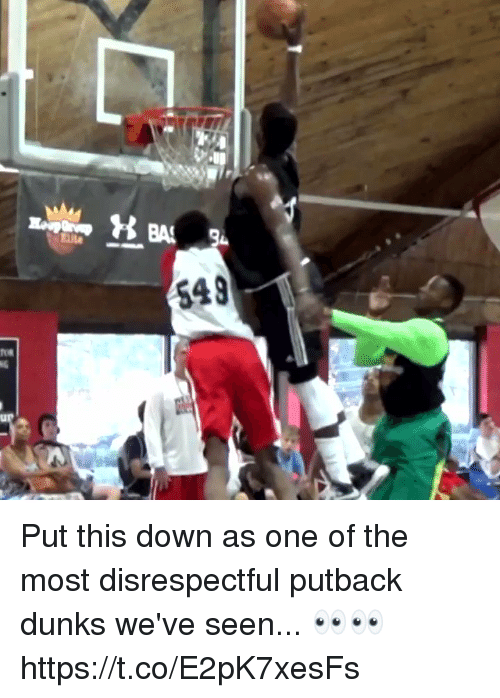 dunks: Put this down as one of the most disrespectful putback dunks we've seen... 👀👀 https://t.co/E2pK7xesFs