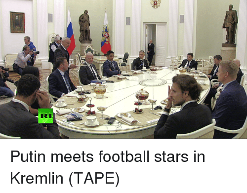 Dank, Football, and Putin: Putin meets football stars in Kremlin (TAPE)