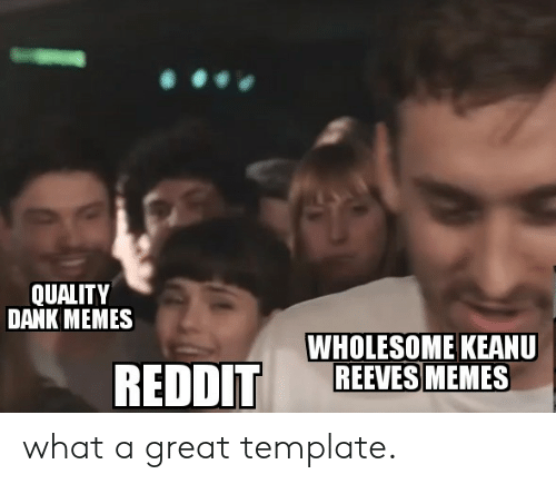 Memes Wholesome: QUALITY  DANK MEMES  WHOLESOME KEANU  REEVES MEMES  REDDIT what a great template.