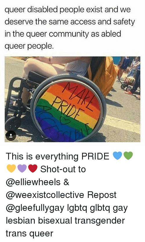 queer disabled people exist and we deserve the same access 24914975 queer disabled people exist and we deserve the same access and