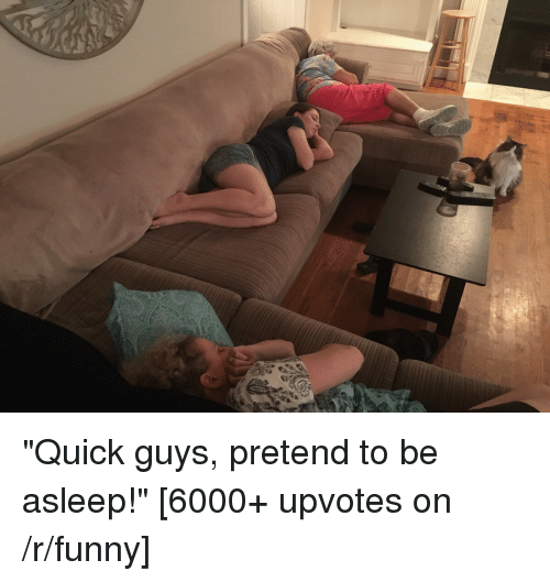 "Thathappened: ""Quick guys, pretend to be asleep!"" [6000+ upvotes on /r/funny]"