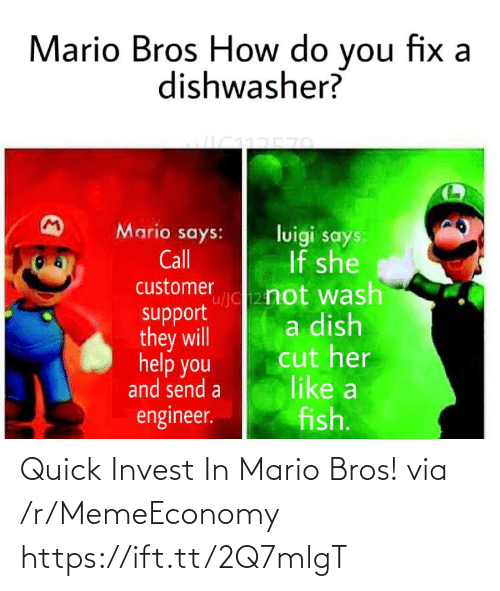 mario bros: Quick Invest In Mario Bros! via /r/MemeEconomy https://ift.tt/2Q7mlgT