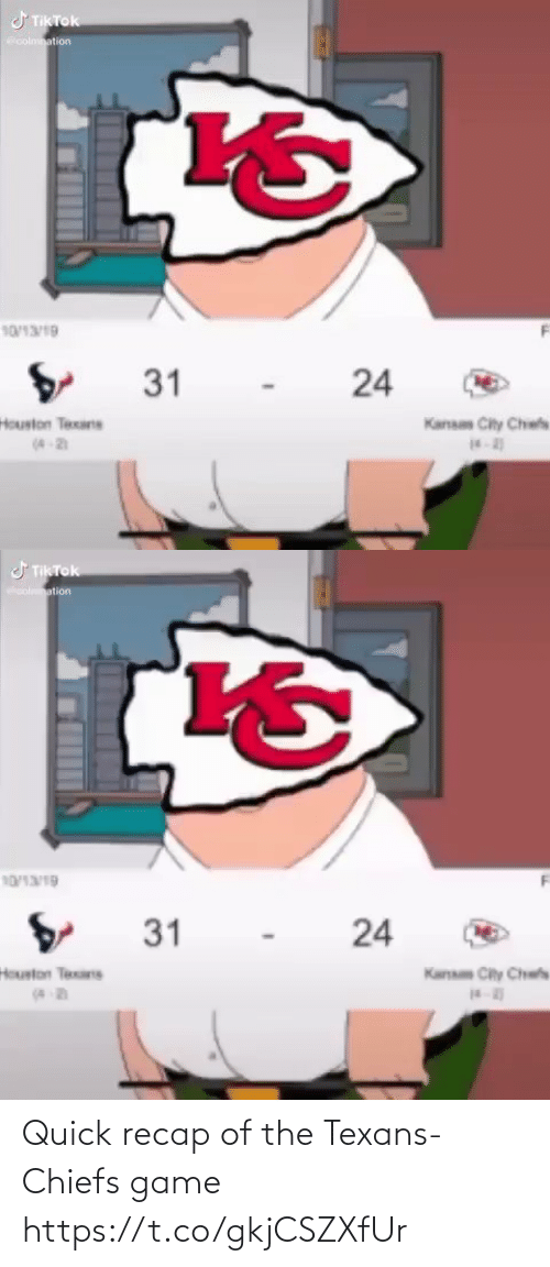 Texans: Quick recap of the Texans-Chiefs game https://t.co/gkjCSZXfUr
